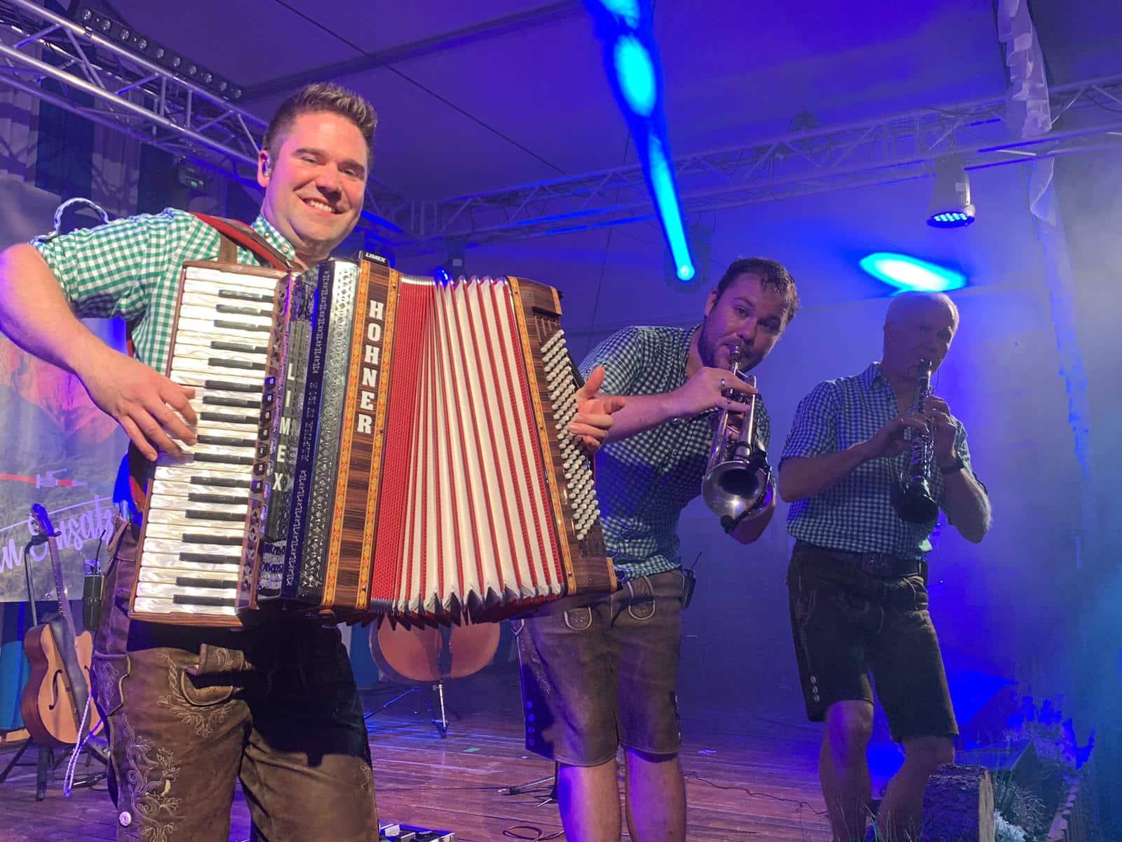 Bayrische Band in der Schweiz