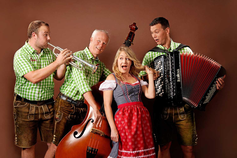 schlagerband im quartett